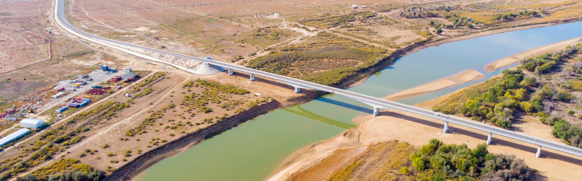 Махамбетский безопорный мост